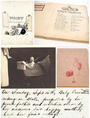 Collage baby book