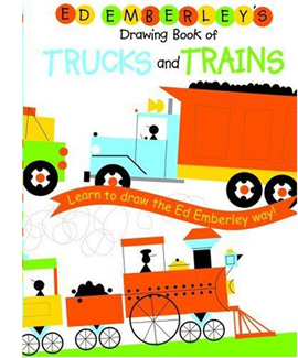 ed emberleys drawing book of trucks and trains kids drawing book - Drawing Books For Boys