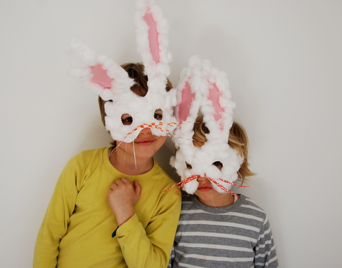 Inspired ... & Easter craft -- Bunny Masks Babyccino Kids: Daily tips Childrenu0027s ...