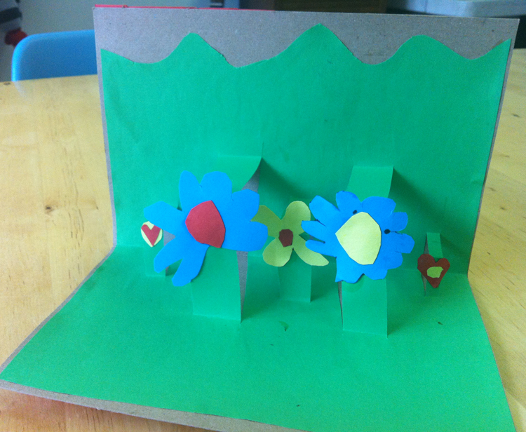 Diy pop up flower garden cards babyccino kids daily tips these pop up flower garden cards or so super easy to make you just need some thin cardboard or thick paper coloured paper glue and scissors mightylinksfo