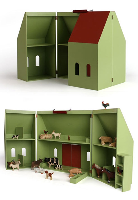 Make And Take Room In A Box Elizabeth Farm: Doll's House And Farm From Hase Weiss Babyccino Kids