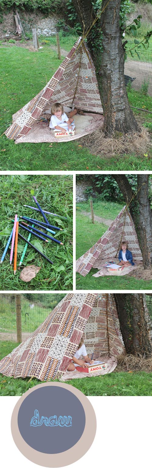 diy a teepee and what to do inside one babyccino kids daily tips children 39 s products craft. Black Bedroom Furniture Sets. Home Design Ideas