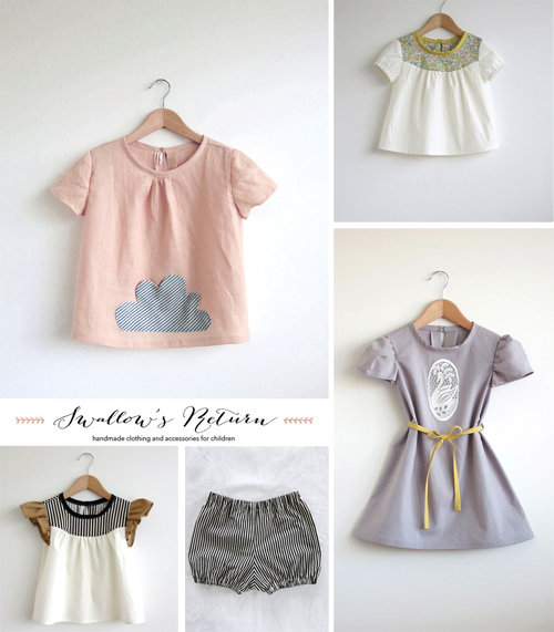 swallows return handmade clothing on etsy babyccino kids