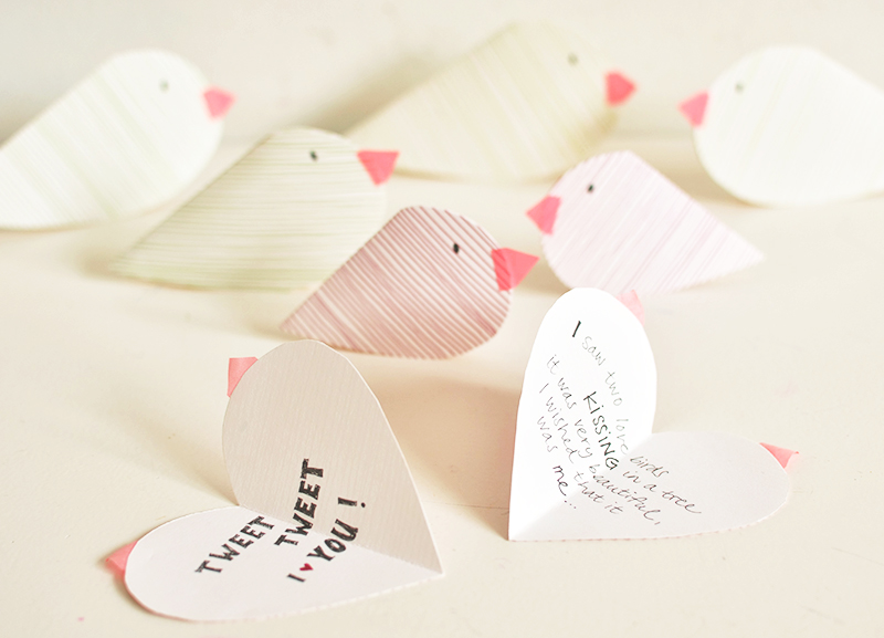 Valentines Craft Love Birds Babyccino Kids Daily Tips