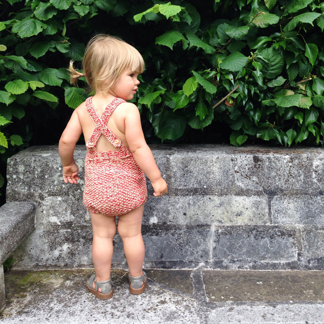 Misha and Puff strawberry sunsuit