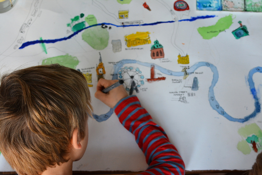 Quin Drawing Map Of London