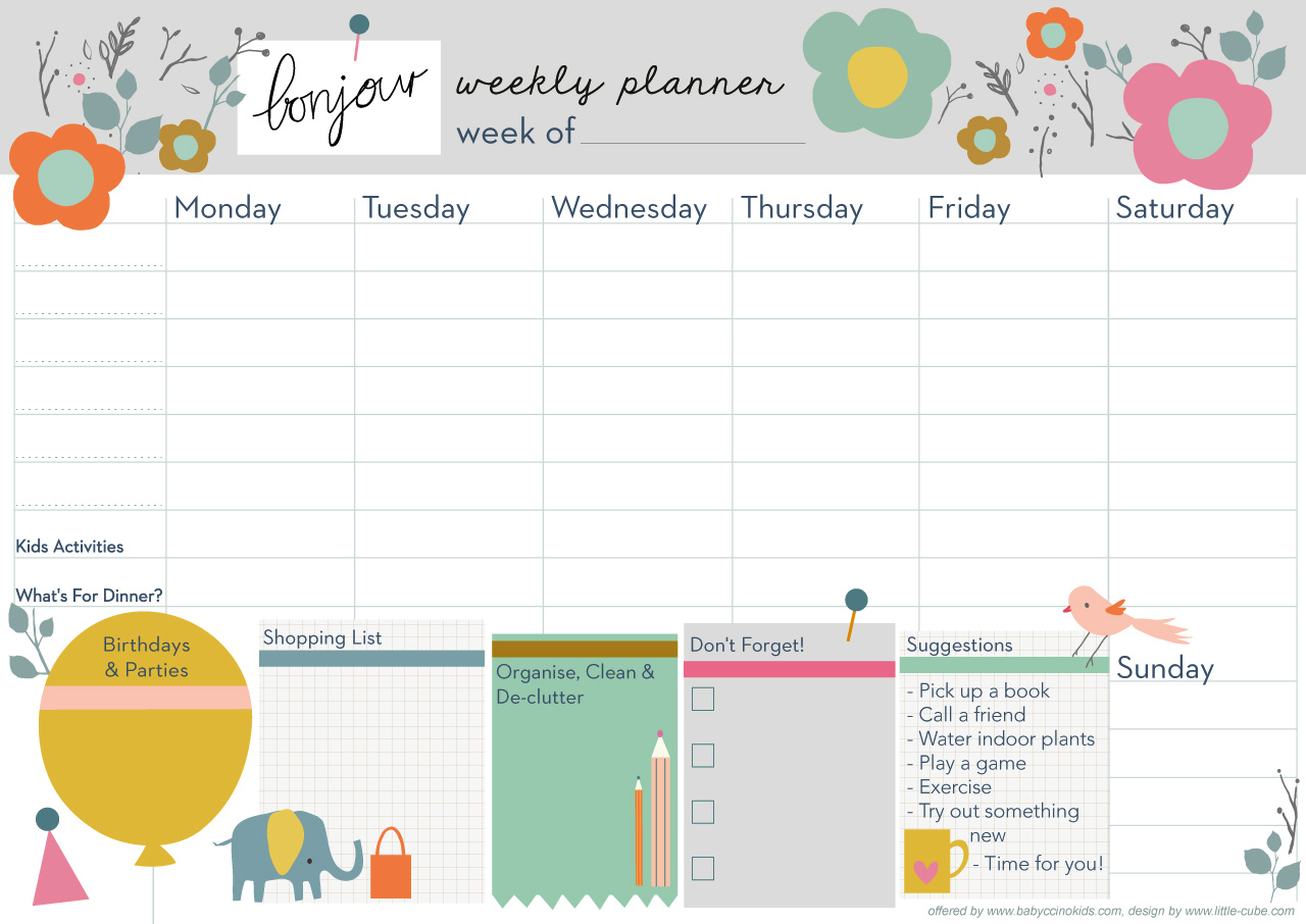 Happy new year and let 39 s get organised babyccino kids Planner websites