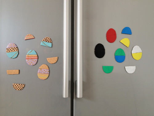 Mix and Match Easter Eggs Magnets