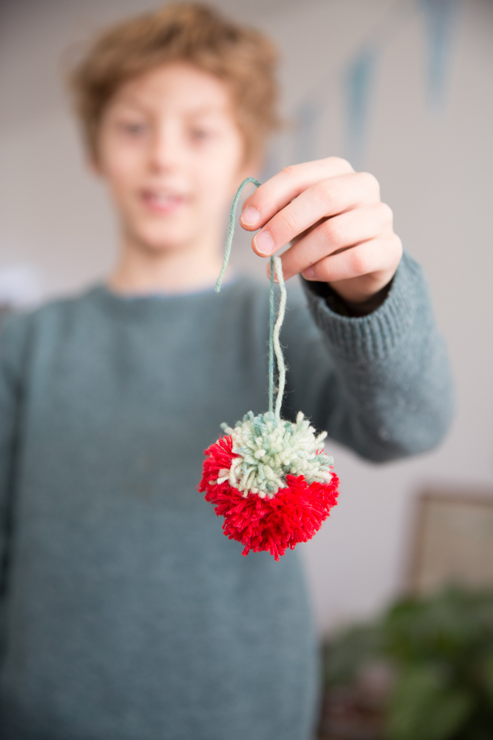 The Little Things, making pompom spring branches