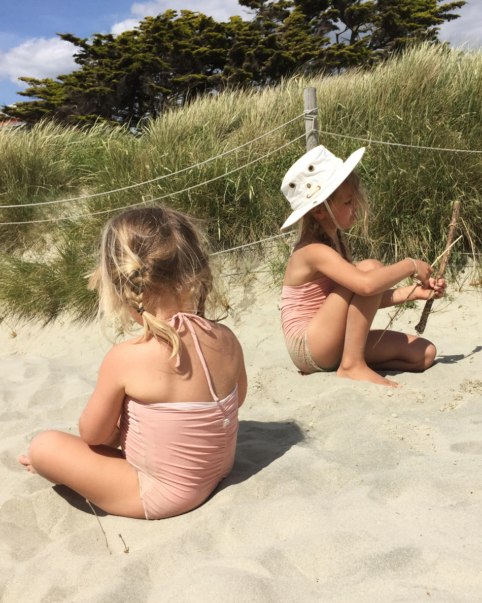 Marlow and Ivy in Little Creative Factory swimsuits