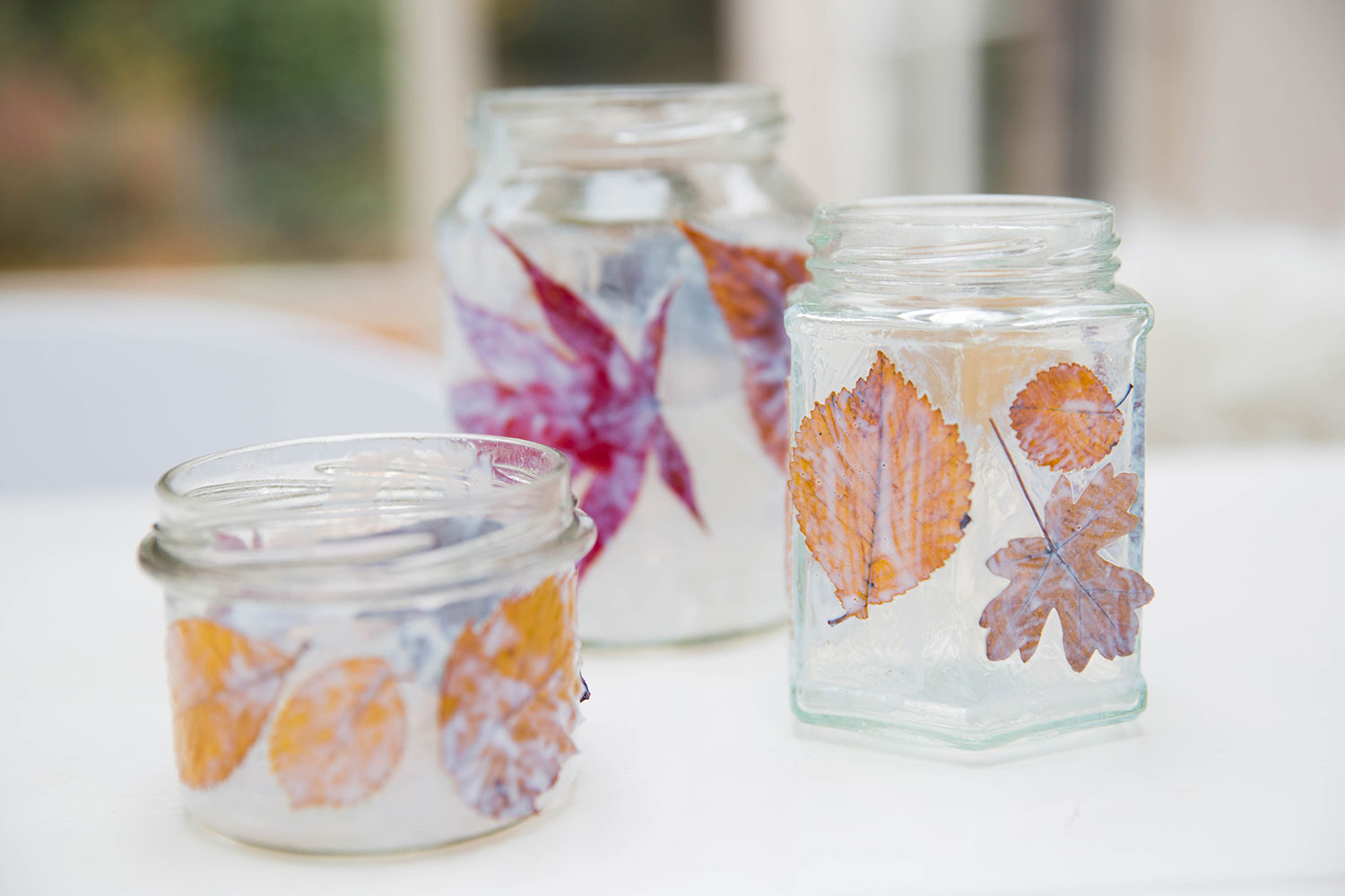 The Little Things by Babyccino Kids: DIY Leaf lanterns