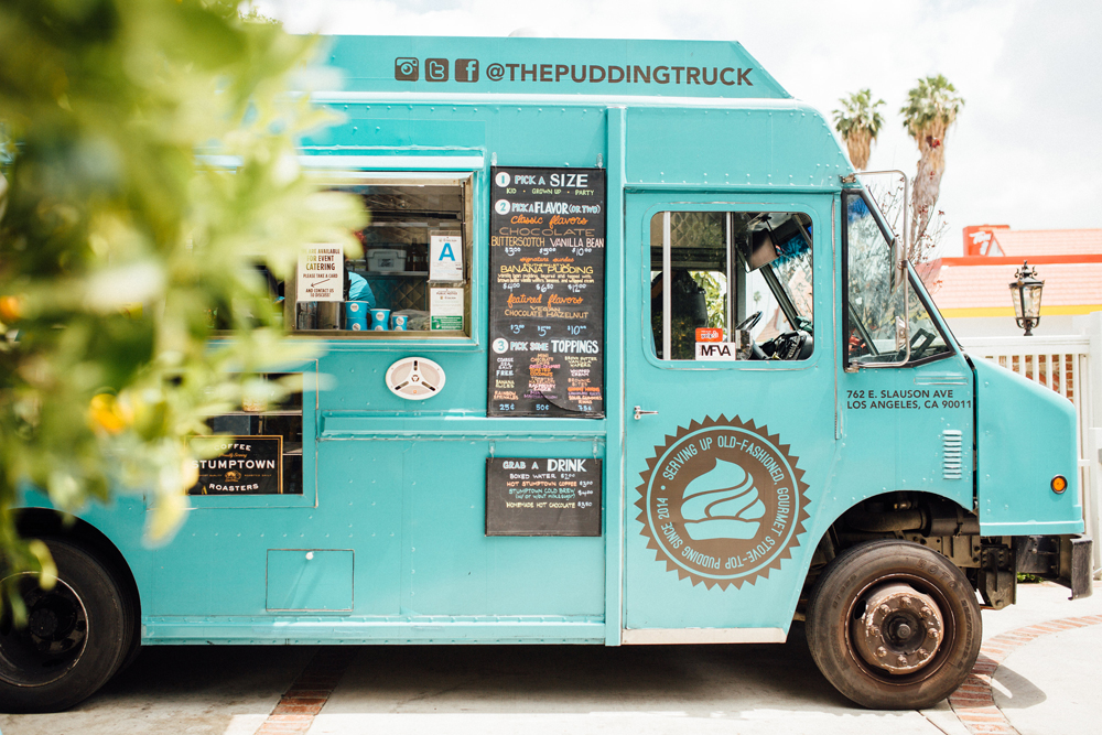 the pudding truck at The ShopUp