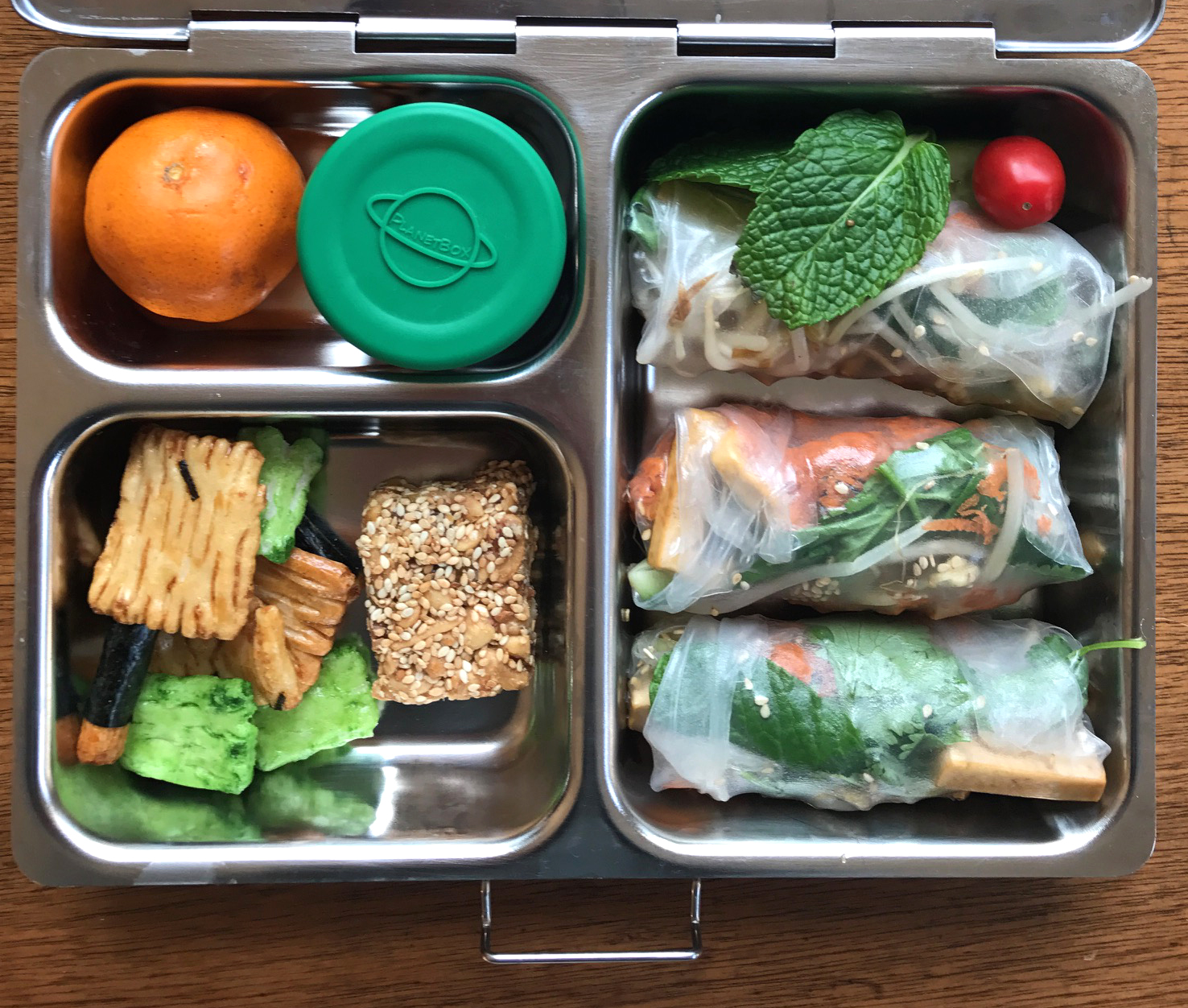 Vietnamese-style Summer Rolls -- perfect for school lunches!