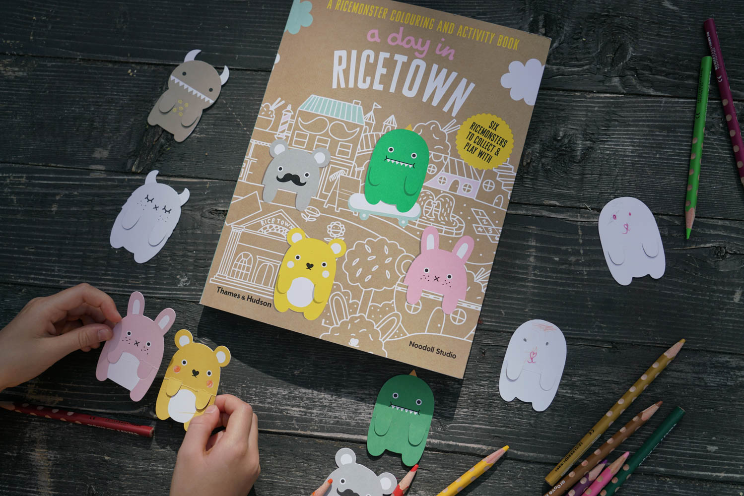 A day in Ricetown activity and colouring book