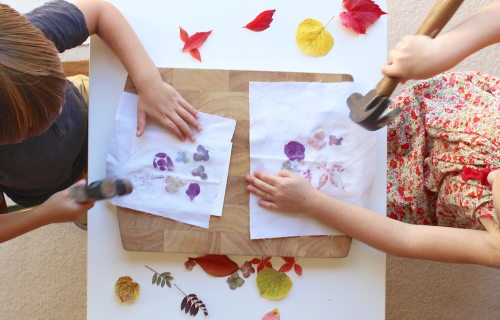 Botanical Hammer Printing A Fun Activity For Older Kids