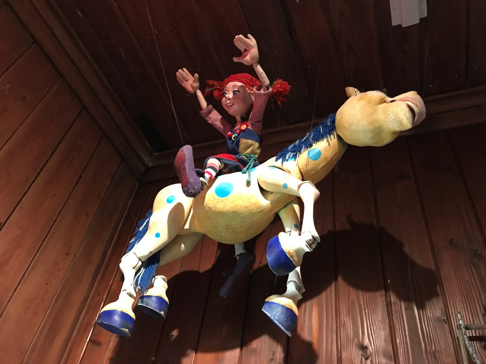 Hanging puppet, Swedish Cottage Marionette Theater