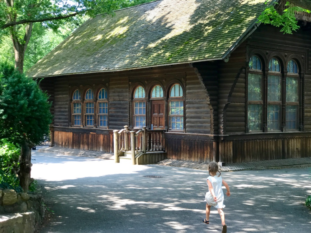 Exterior of Swedish Cottage Marionette Theater