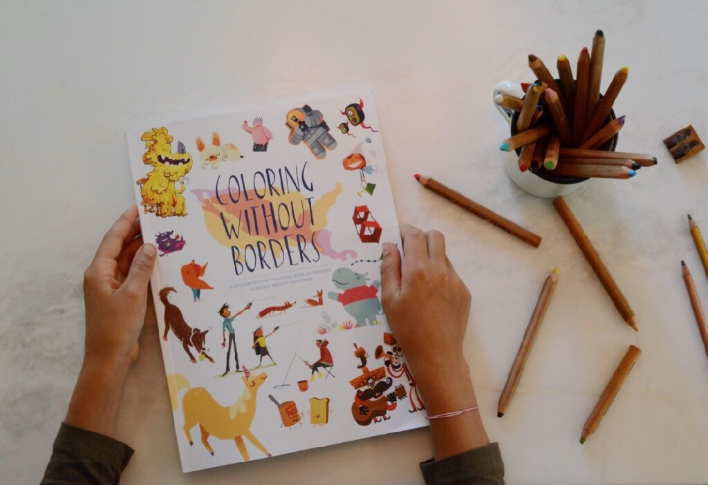 Coloring Without Borders -- a collaborative coloring book