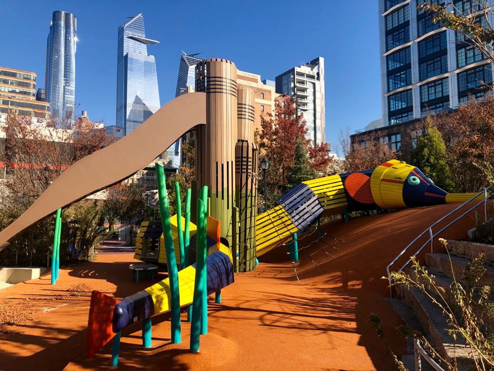 The Play Area At Chelsea Waterside Park In Nyc A Favourite Playground Babyccino Kids Daily Tips Children S Products Craft Ideas Recipes More