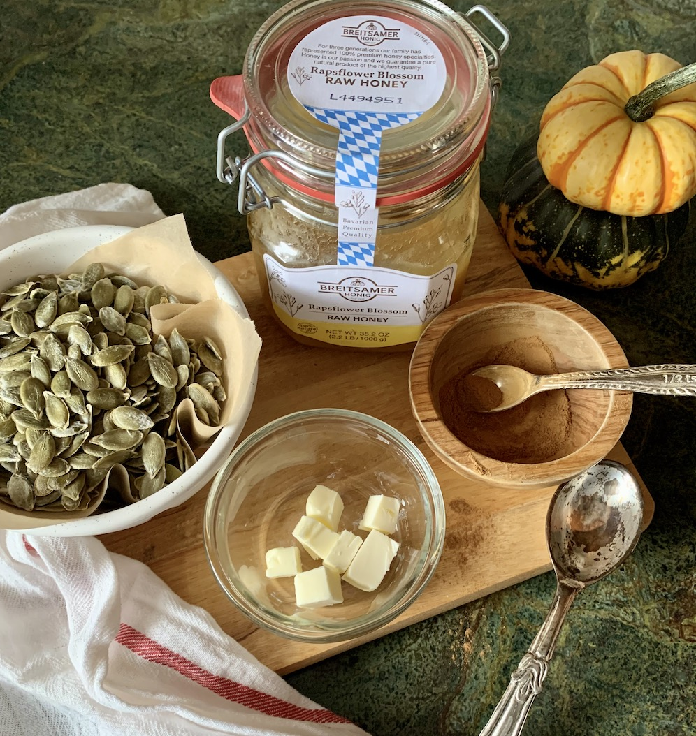Simple No Waste Honey Roasted Pumpkin Seeds Babyccino Kids Daily Tips Children S Products Craft Ideas Recipes More